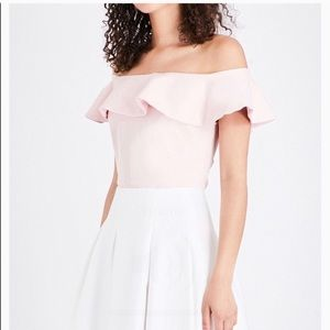 Ted Baker London Perui Off The Shoulder Ruffle Top